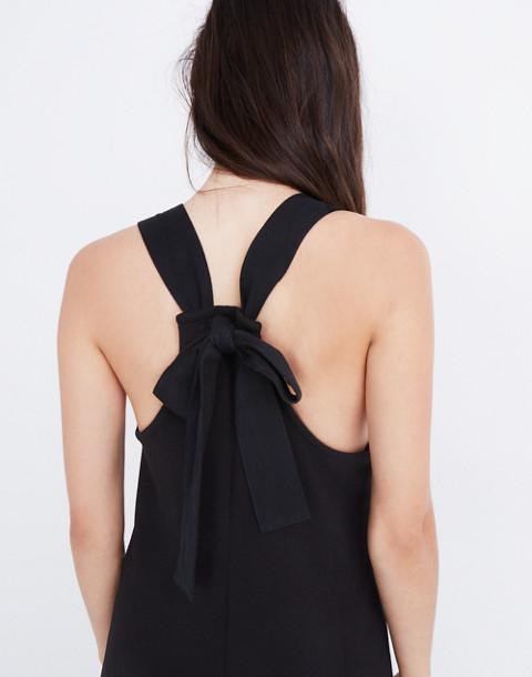 Texture & Thread Tie-Back Jumpsuit in true black image 2