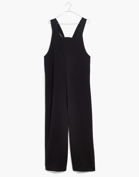 Texture & Thread Tie-Back Jumpsuit in true black image 4