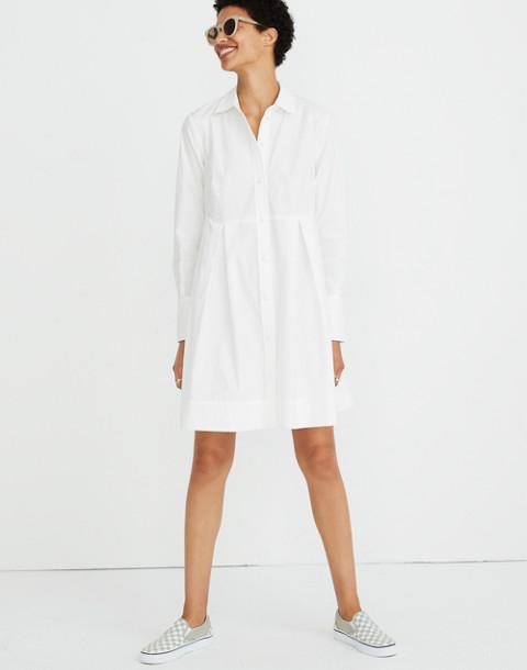 Box-Pleat Shirtdress in white wash image 2