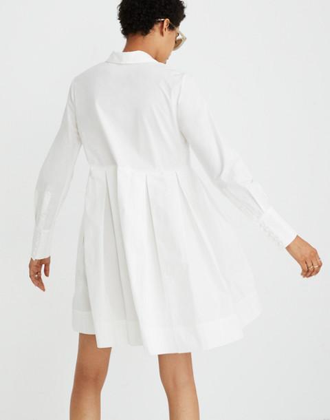 Box-Pleat Shirtdress in white wash image 3