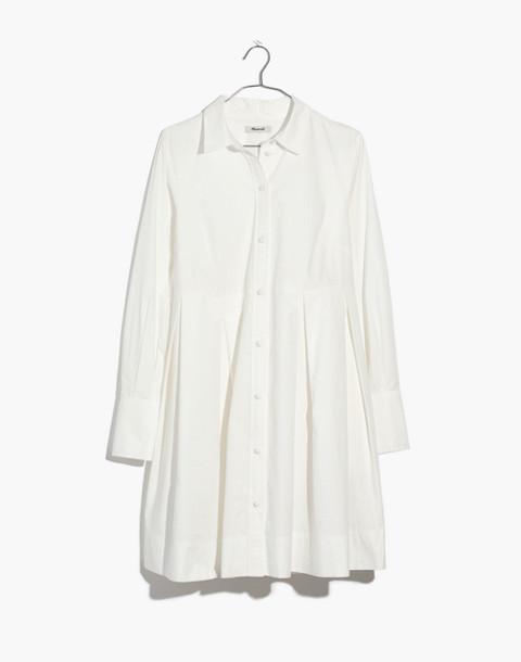 Box-Pleat Shirtdress in white wash image 4