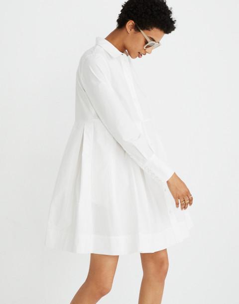 Box-Pleat Shirtdress in white wash image 1