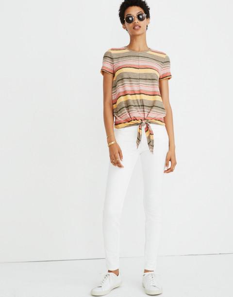 Texture & Thread Modern Tie-Front Top in Kieran Stripe in british surplus image 2