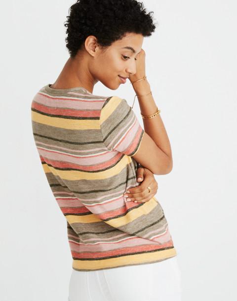 Texture & Thread Modern Tie-Front Top in Kieran Stripe in british surplus image 3