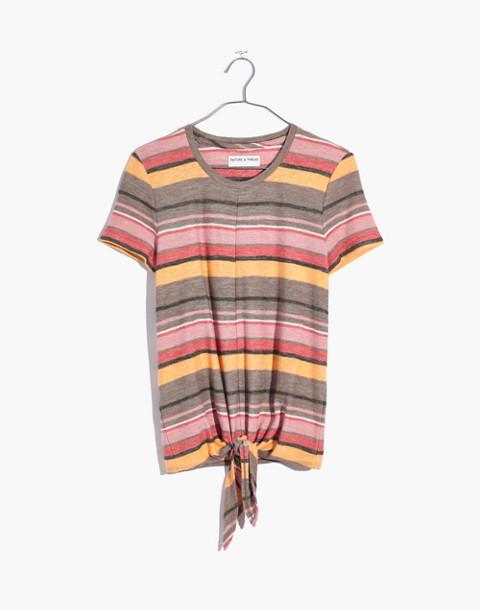 Texture & Thread Modern Tie-Front Top in Kieran Stripe in british surplus image 4