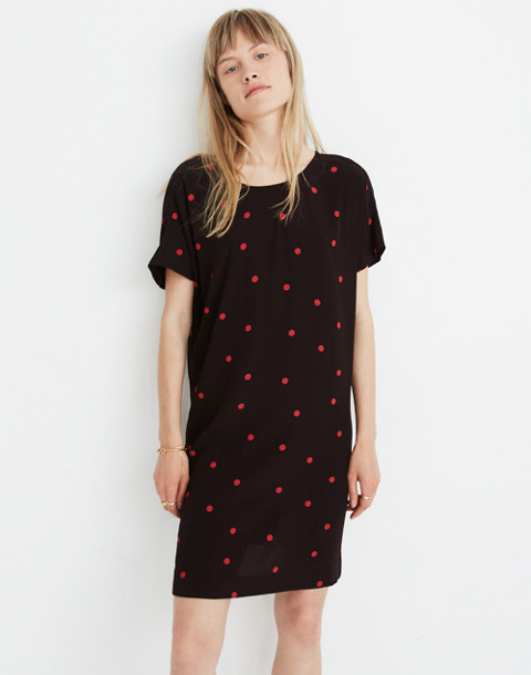Downtown Tie-Back Dress in Dot in small smoked graphite image 1