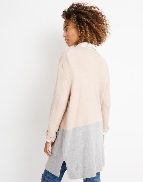 4cdf2db7dc5 Kent Colorblock Cardigan Sweater in Coziest Yarn in heather beige image 2