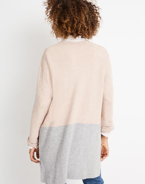 ef5d986a80a Kent Colorblock Cardigan Sweater in Coziest Yarn in heather beige image 3