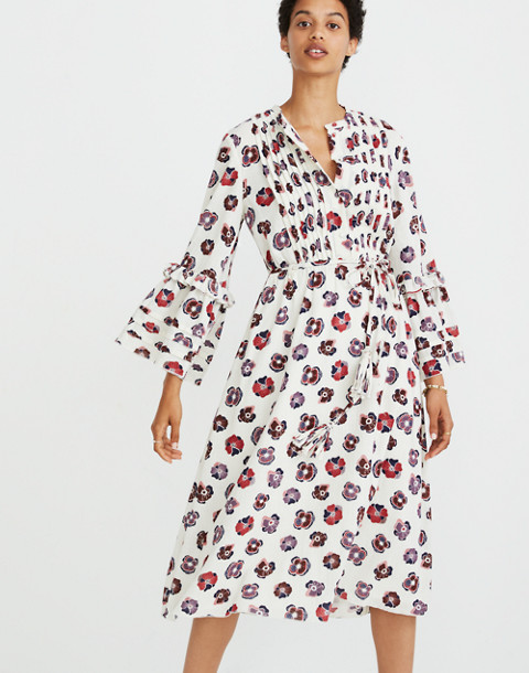 Madewell x Karen Walker® Floral Fantasia Ruffled Dress in pop art champagne image 1