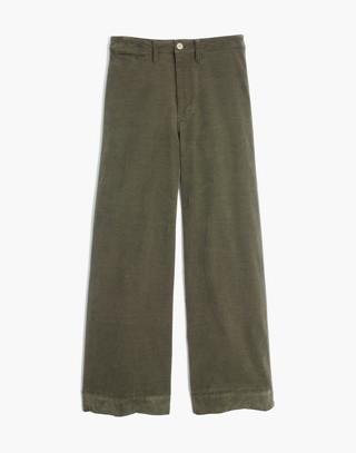 Tall Emmett Wide-Leg Crop Pants in Velveteen in kale image 4