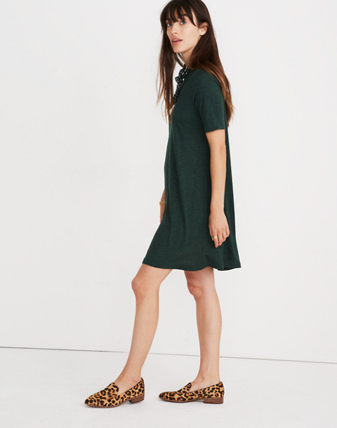 Mockneck Boxy Tee Dress in faded grove image 2