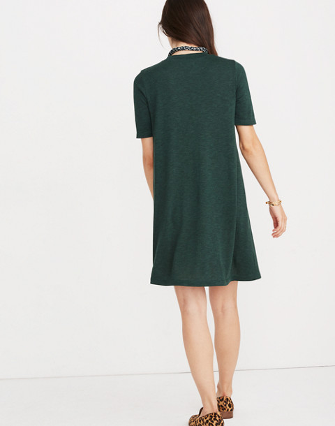 Mockneck Boxy Tee Dress in faded grove image 3