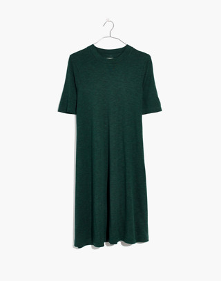 Mockneck Boxy Tee Dress in faded grove image 4