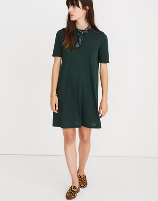 Mockneck Boxy Tee Dress in faded grove image 1