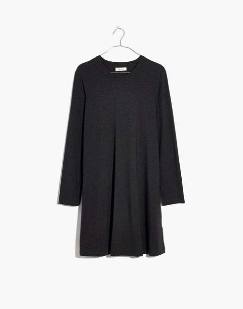 Long-Sleeve Swingy Tee Dress in hthr chimney image 4