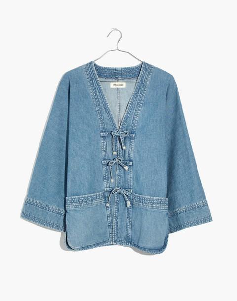 Denim Kimono Chore Jacket in coolidge wash image 4