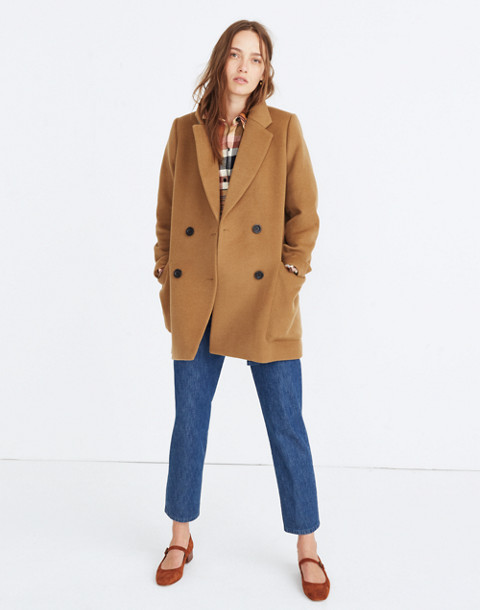 Hollis Double-Breasted Coat in classic desert image 1