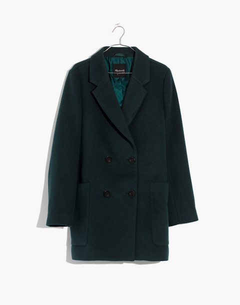 Hollis Double-Breasted Coat in smoky spruce image 1