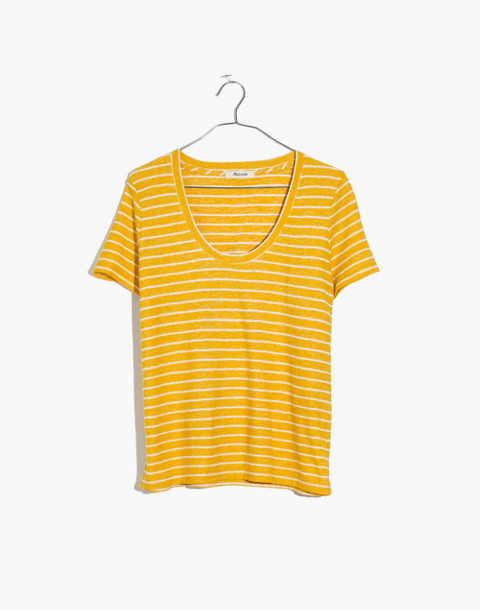 Alto Scoop Tee in Estrella Stripe in mystic yellow image 4