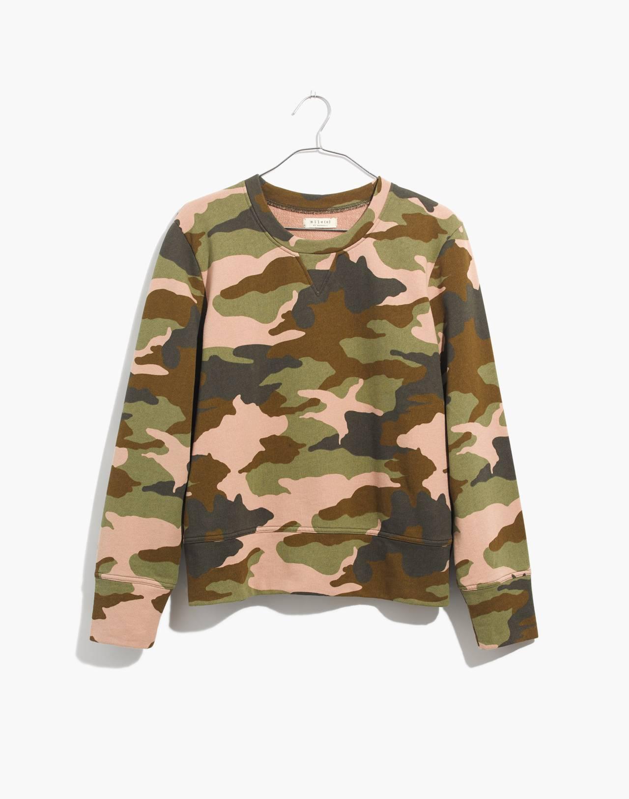 Crewneck Sweatshirt in Cottontail Camo in bunny camo asparagus image 4