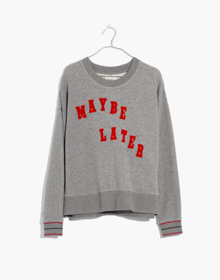 Maybe Later Mainstay Sweatshirt in hthr stonewall image 4
