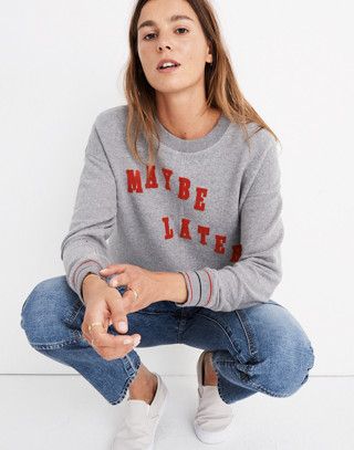 Maybe Later Mainstay Sweatshirt in hthr stonewall image 1