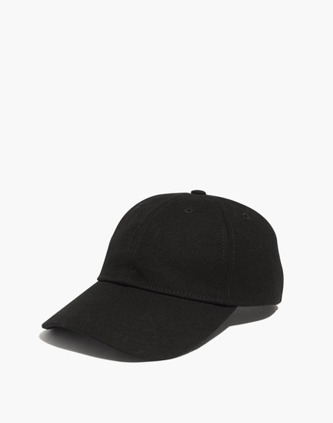 Embroidered Ciao For Now Canvas Baseball Cap in classic black image 1