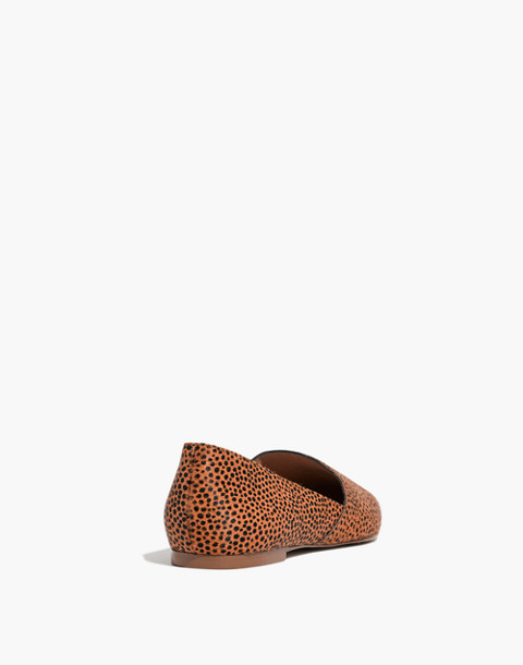 The Lizbeth Flat in Dotted Calf Hair in bittersweet image 4