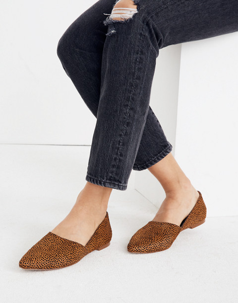 The Lizbeth Flat in Dotted Calf Hair in bittersweet image 2