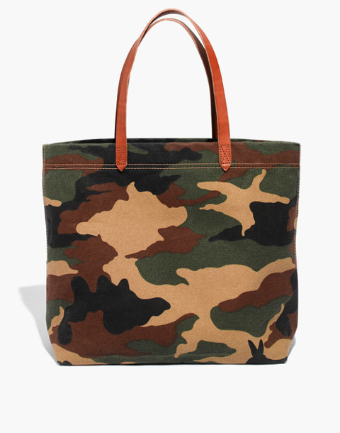 The Canvas Transport Tote in Cottontail Camo in classic desert image 1