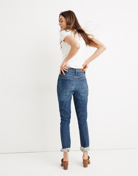 The Tall High-Rise Slim Boyjean: Eco Edition in rossie wash image 3