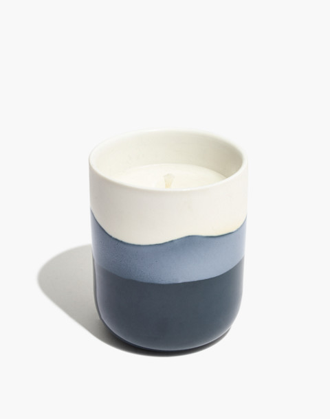 Dipped Ceramic Candle in balsamwood smoke image 1