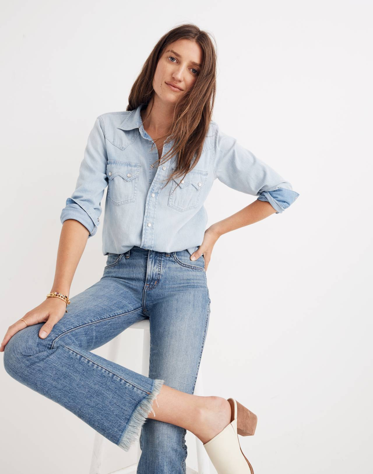 Tall Cali Demi-Boot Jeans in Comfort Stretch: Eco Edition in heney image 1