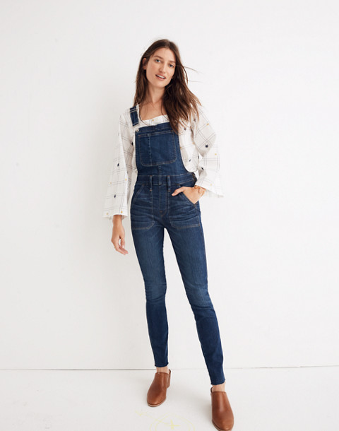 Skinny Overalls: Eco Edition in elmdale wash image 2
