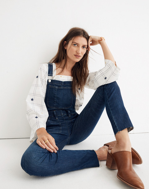 Skinny Overalls: Eco Edition in elmdale wash image 1