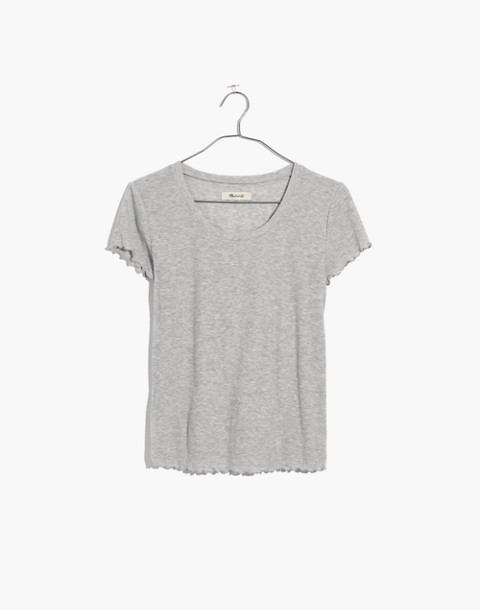 Ruffled Pajama Tee in hthr nickel image 4