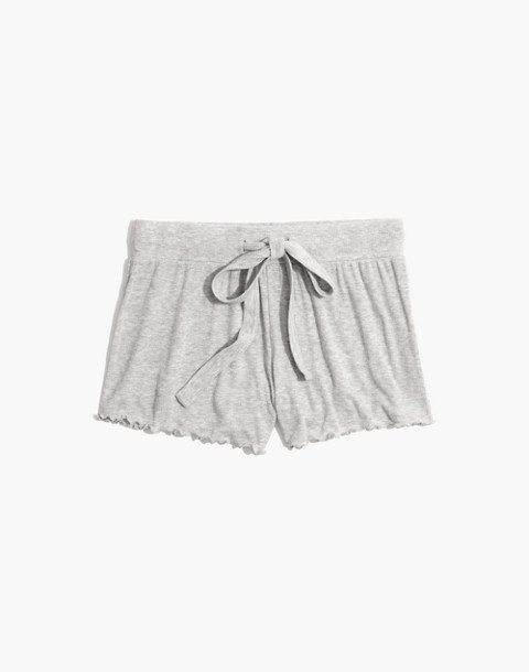 Ruffled Pajama Shorts in hthr nickel image 4
