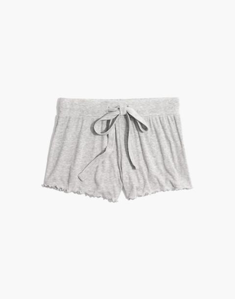 Ruffled Pajama Shorts in hthr nickel image 4