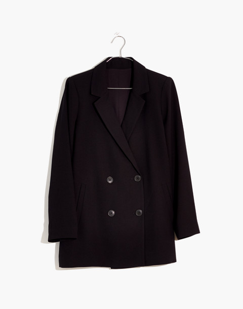 Caldwell Double-Breasted Blazer in true black image 4