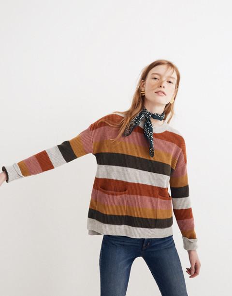 Patch Pocket Pullover Sweater in Walton Stripe