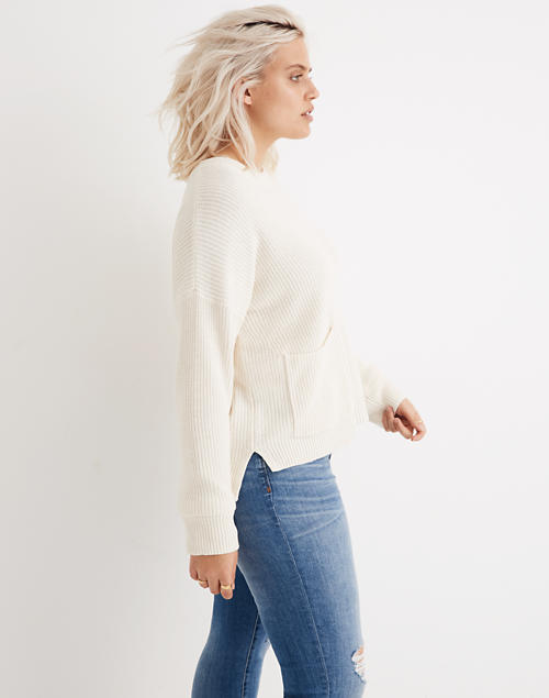 bda30b33762ac Patch Pocket Pullover Sweater in bright ivory image 1