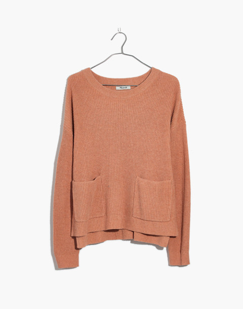 Patch Pocket Pullover Sweater in hthr rosewater image 1