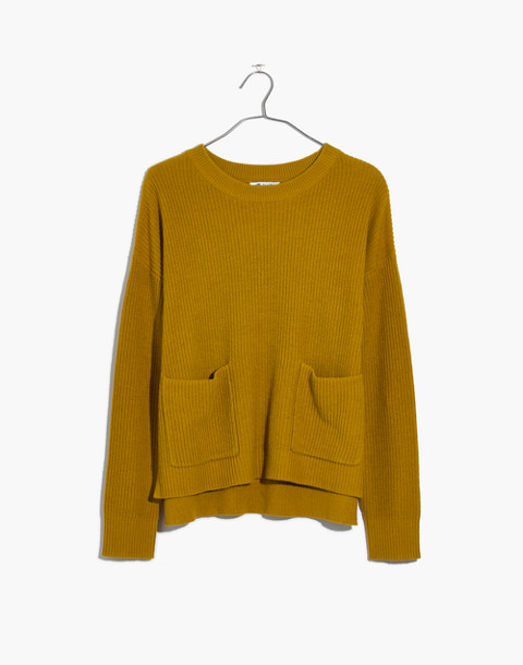 Patch Pocket Pullover Sweater in deep mustard image 1