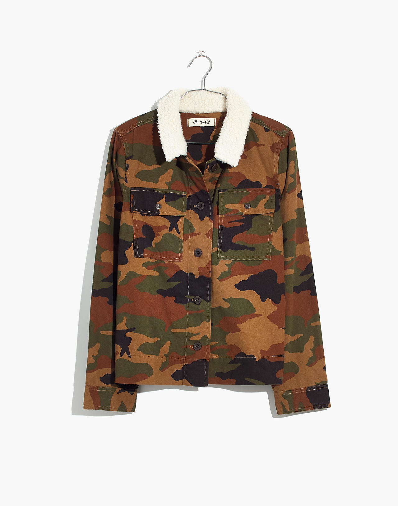 2db9f2d26 Northward Cropped Army Jacket in Cottontail Camo  Sherpa Edition