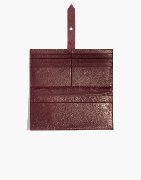 The Post Wallet in dark cabernet image 2