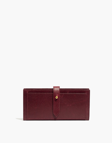 The Post Wallet in dark cabernet image 1