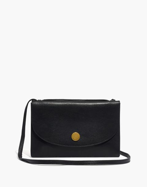 The Slim Convertible Bag in true black image 1