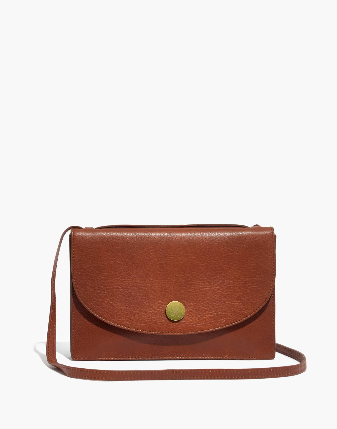 The Slim Convertible Bag in english saddle image 1