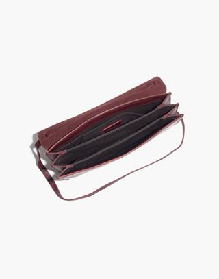 The Slim Convertible Bag in dark cabernet image 2