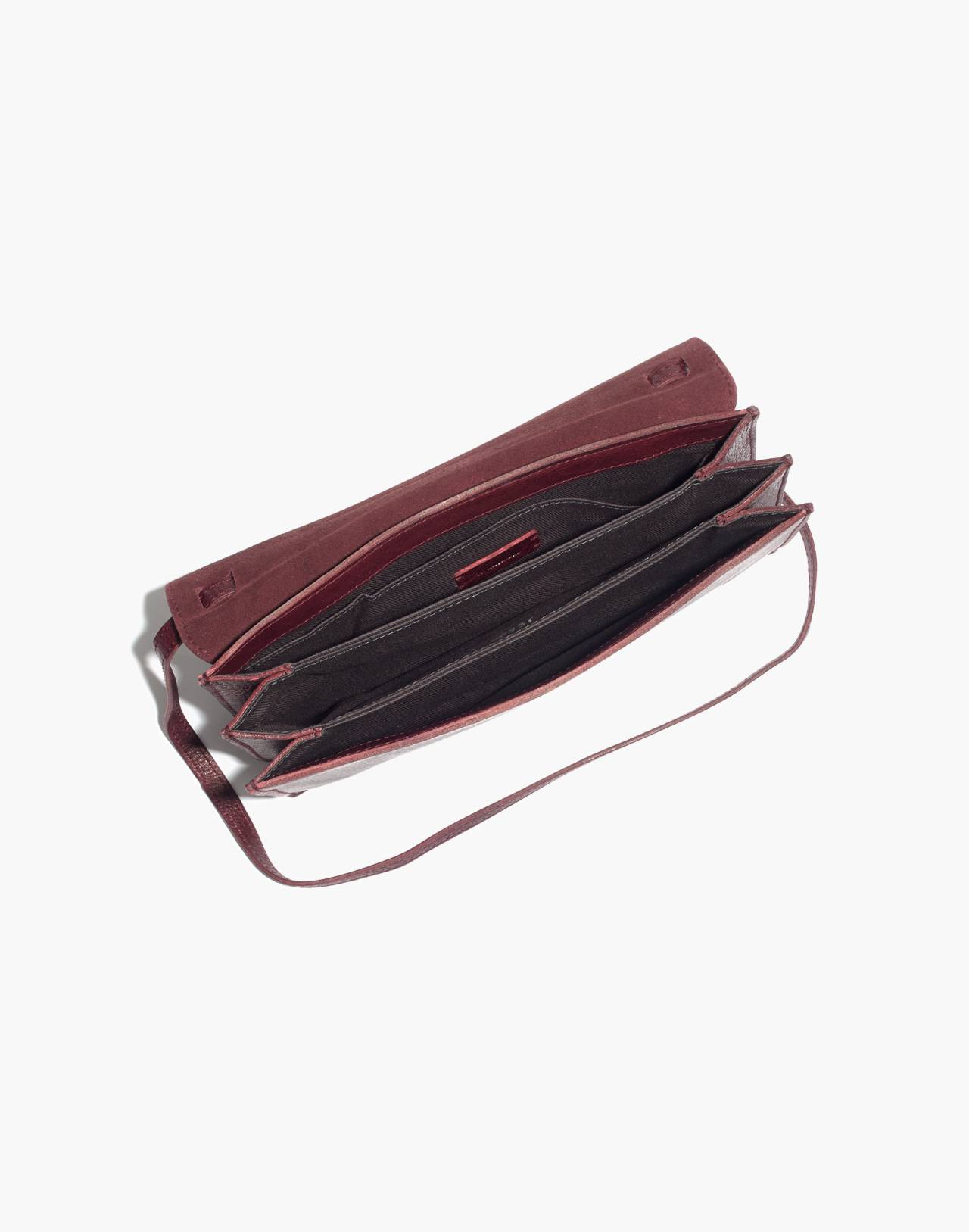 The Slim Convertible Bag in dark cabernet image 2